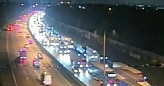 M25 closed after serious crash involving ambulance, HGV and car