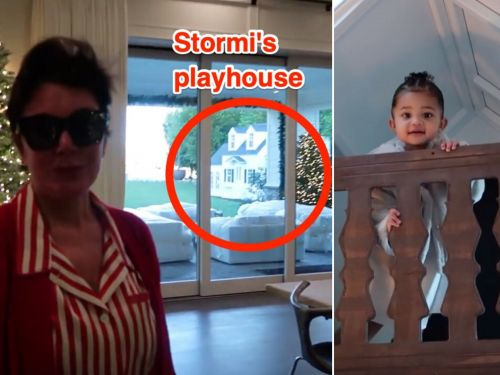Kris Jenner surprised Stormi with a playhouse, and the mini-mansion is equipped with kitchen appliances and a patio