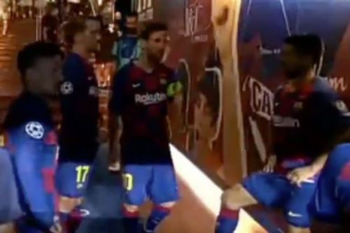 Messi's x-rated half-time tunnel message to Barcelona teammates vs Napoli