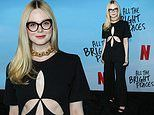 Elle Fanning flashes hints of skin during the red carpet premiere of All The Bright Places