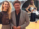 Christian Wilkins wears a skirt and semi-sheer top as he enjoys a 'date night' with his dad