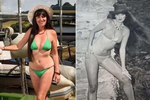 'UK's oldest glamour model' channels Linda Lusardi by recreating poses at 68