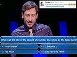 Who Wants To Be A Millionaire? player uses ALL FOUR lifelines on Spice Girls question