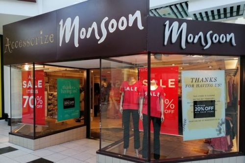 Monsoon Accessorize to close 35 shops putting hundreds of jobs at risk
