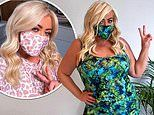Gemma Collins showcases her three stone weight loss as she dons face masks and plus-size loungewear