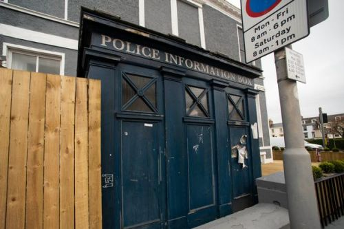 Dr Who type police box creates a stir in South Ayrshire town