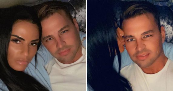 Katie Price cuddles up to boyfriend Carl Woods in a series of sweet snaps
