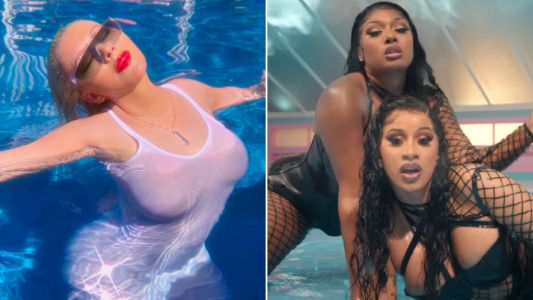 Christina Aguilera feeling herself after Cardi B and Megan Thee Stallion's WAP with sultry swimming pool photo