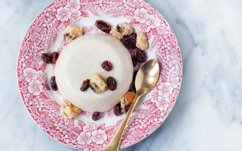 Hot cross bun panna cotta recipe