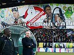 Who you gonna call? Alan Pardew gets the Ghostbusters treatment from ADO Den Haag fans