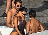 Kourtney Kardashian dons plunging swimsuit as she reunites with ex Scott Disick in Costa Rica