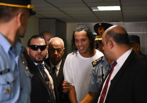 The emotional moment Brazil and Barcelona icon Ronaldinho discovers he's being released from prison
