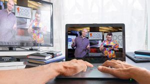 How to Use Your Big-Screen TV for Online Learning