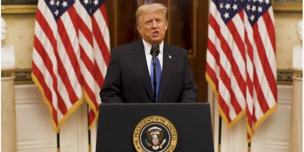 Trump admits his term is ending but doesn't say Biden's name or formally concede election loss in White House farewell speech