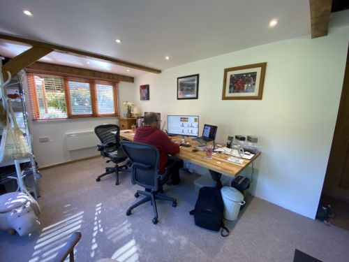 Where I Work: Chris, the tech CEO helping small businesses from an office in his back garden