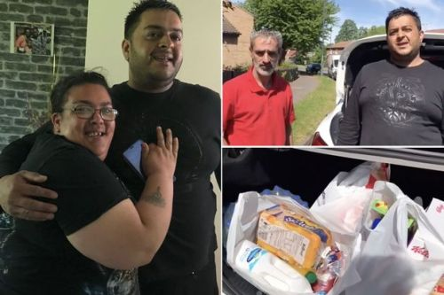 Kind man turns up at mum's door with bags of food after benefits were scrapped