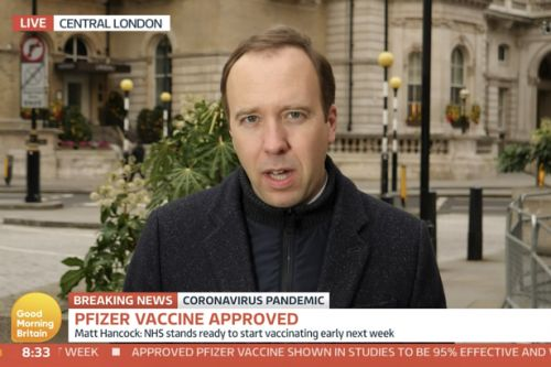 Matt Hancock vows to get Covid vaccine live on TV with Piers Morgan