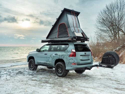 Lexus turned its GX luxury SUV into a camper van with a pop-up tent on the roof - see inside