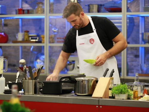 Christian Day relishing the challenge on MasterChef