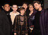 IT's a reunion! Sophia Lillis is supported by her fellow 'losers club' co-stars