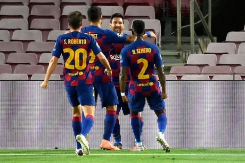 Barcelona into Champions League last eight as a Messi special helps beat Napoli