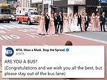 Wedding party blocks New York City's Fifth Ave for photo shoot