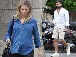 Pregnant Anna Heinrich visits Lisa Hyde with husband Tim Robards