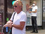 Richard Madeley sports a protective face mask as he heads out to the shops amid coronavirus crisis