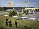 Girl, 12, is killed by a stray bullet during a drive-by shooting in Sweden