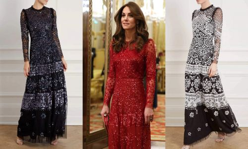 Kate Middleton's sequin Needle & Thread dress comes in three colours and two lengths