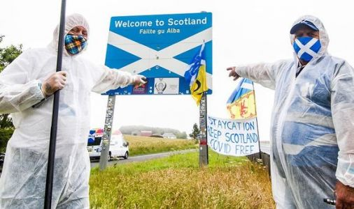 Sturgeon silent as Nationalist protestors warn English visitors to stay f*** out at border