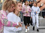 Hailey Baldwin flashes her HUGE diamond ring as she snuggles up to Justin Bieber on London Eye