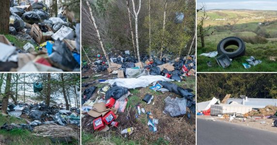 Fly-tipping soars as families clear their houses when recycling centres are closed
