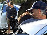Selma Blair shares sweet embrace with beau Ron Carlson as loved-up couple enjoy outing in LA