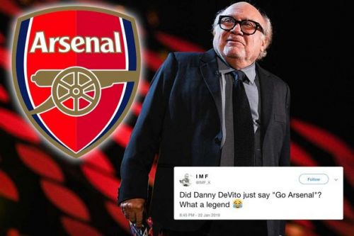 Arsenal fans LOVE what Danny Devito did at the National Television Awards