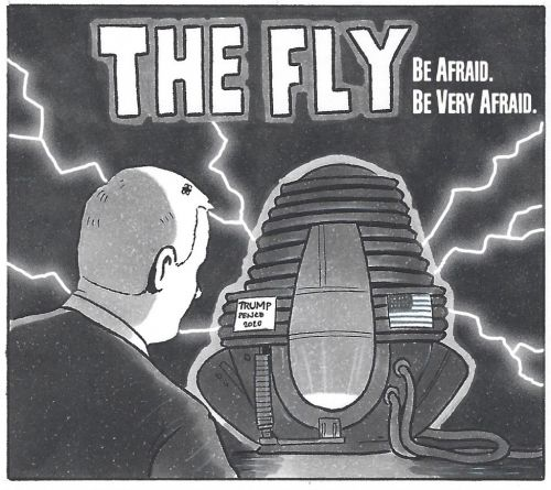 David Squires on. Mike Pence in The Fly