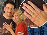 Anna Faris finally reveals her massive engagement ring while recording her podcast with Jason Biggs