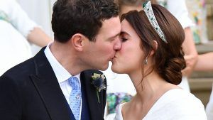 Princess Eugenie had this sweet message embroidered on wedding dress