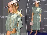 Delta Goodrem wears a BANNED dress to an official Melbourne Cup event in Sydney
