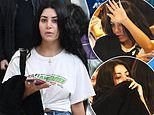 Married At First Sight's Martha Kalifatidis HIDES under a coat in Sydney Airport