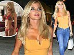 Baywatch star Donna D'Errico, 51, slips into her skinny jeans during night on the town