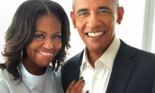 Michelle Obama shares rare family photo with husband Barack and their daughters