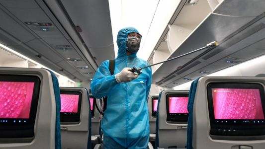 Vietnam Airlines disinfects aircraft after each flight