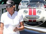 Caitlyn Jenner keeps it casual as she heads out in her one-of-a-kind mini Austin-Healey sports car