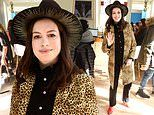 Anne Hathaway is lovely in leopard as she promotes her film The Last Thing He Wanted during Sundance