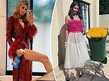 Australian socialite Lissy Graham is taking isolation dressing to the next level in designer threads