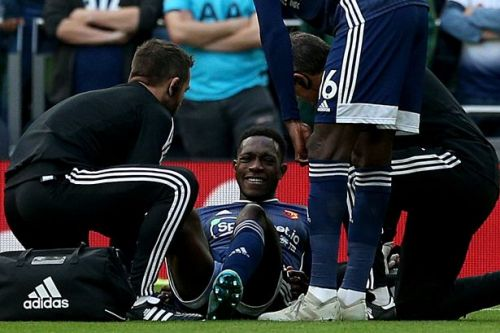 Danny Welbeck taunted by Tottenham fans after picking up injury in first minute for Watford