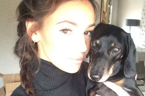 Michelle Keegan's dog demands her dinner after life-saving dash to the vet