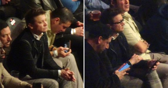 Jeremy Renner doesn't look too fussed at Conor McGregor fight so someone let the poor man go home