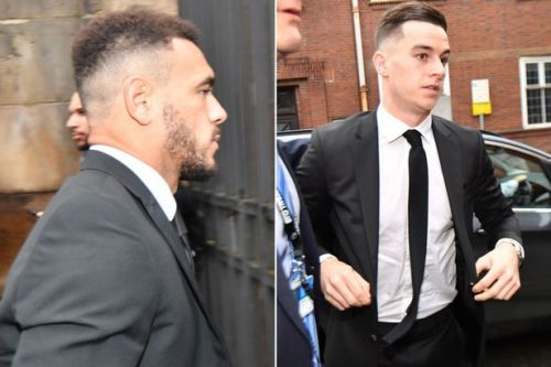 Derby duo Tom Lawrence and Mason Bennett arrive at court for drink-drive trial